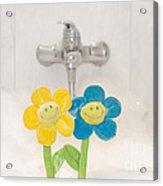 Smile Flower Acrylic Print