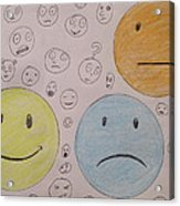 Smiley Face And Friends Acrylic Print