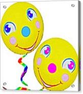 Smiley Face Balloons Acrylic Print