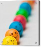 Smiley Face Gum Balls Acrylic Print by Amy Cicconi