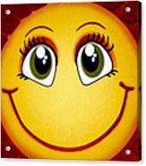Smiley Sun Acrylic Print