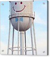 Smiley The Water Tower Acrylic Print