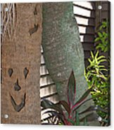 Smiley Tree Acrylic Print