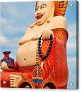 smiling Buddha Acrylic Print