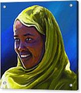 Smiling Lady Acrylic Print