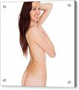 Smiling Nude Acrylic Print