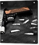 Smith And Wesson 1911sc Still Life Acrylic Print
