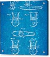 Smith Kazoo Musical Toy Patent Art 1902 Blueprint Acrylic Print