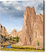 Smith Rock And The Crooked River Acrylic Print