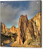 Smith Rock Foggy Morning Acrylic Print