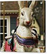 Smithville Carousel Rabbit Acrylic Print