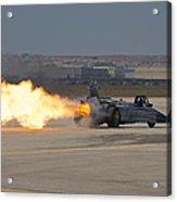 Smoke N Thunder Jet Car Acrylic Print