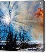 Smoke Thru The Trees Acrylic Print