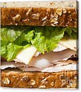 Smoked Turkey Sandwich Acrylic Print
