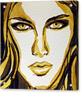 Smokey Eyes Woman Portrait Acrylic Print by Patricia Awapara