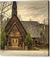 Smokey Mountain Love Chapel 2 Acrylic Print