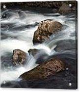 Smokey Mountain Stream In Autumn No.11 Acrylic Print