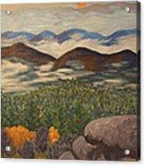 Smokey Mountain Sunset Acrylic Print