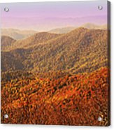 Smokey Mountains Acrylic Print by Will Burlingham