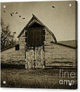 Smokey Prairie Barn  Acrylic Print