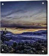 Smokey Sunrise Acrylic Print