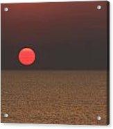 Smokey Sunset  Acrylic Print