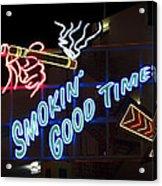 Smokin Good Times In Las Vegas Acrylic Print