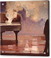 Smokin Piano Acrylic Print