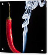 Smoking Red Hot Chilli Pepper  Acrylic Print