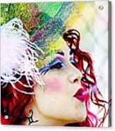 Smoking Redhead Acrylic Print