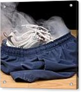 Smoking Shorts And Tennis Shoes Acrylic Print