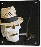Smoking Skull  Acrylic Print