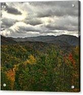 Smoky Mountain Autumn View Acrylic Print