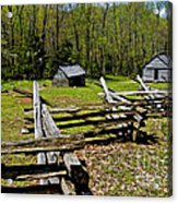 Smoky Mountain Cabins Acrylic Print