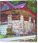 Old Log Cabin - Smoky Mountain Home Acrylic Print