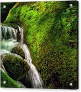 Smoky Mountain Stream And Boulders E223 Acrylic Print