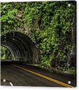Smoky Mountain Tunnel In The Rain E123 Acrylic Print