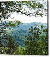 Smoky Mountain View Laurel Falls Trail Acrylic Print