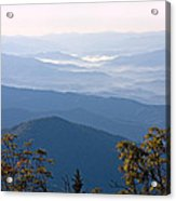 Smoky Mountains From Clingmans Dome Acrylic Print