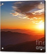 Smoky Mountains Sunset Acrylic Print