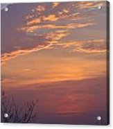 Smooth Sunset Acrylic Print