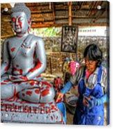 Smoothing Buddha Acrylic Print
