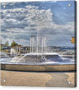 Smothers Park Fountains #1 Acrylic Print by Wendell Thompson