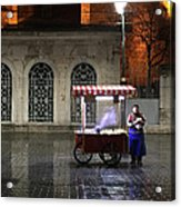 Snack Seller Cankurtaran Istanbul Acrylic Print