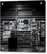 Snack Shop Bw Acrylic Print