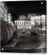 Snails Attack Milan Bw Acrylic Print