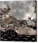 Snake Acrylic Print by Theda Tammas