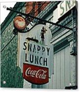 Snappy's Acrylic Print by Steve Godleski