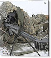 Snipers Provide Overwatch At Fort Acrylic Print