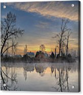 Dawn On The Snohomish Acrylic Print